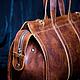 """Мужские сумки ручной работы. Заказать Саквояж из натуральной кожи """" Путник """". BLEKERMAN Изделия из кожи и ткани. Ярмарка Мастеров."""