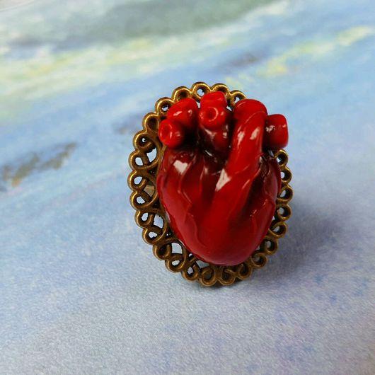 """Кольца ручной работы. Ярмарка Мастеров - ручная работа. Купить Кольцо Анатомическое Сердце """"Ажур"""". Handmade. Кольцо, анатомическое сердце"""