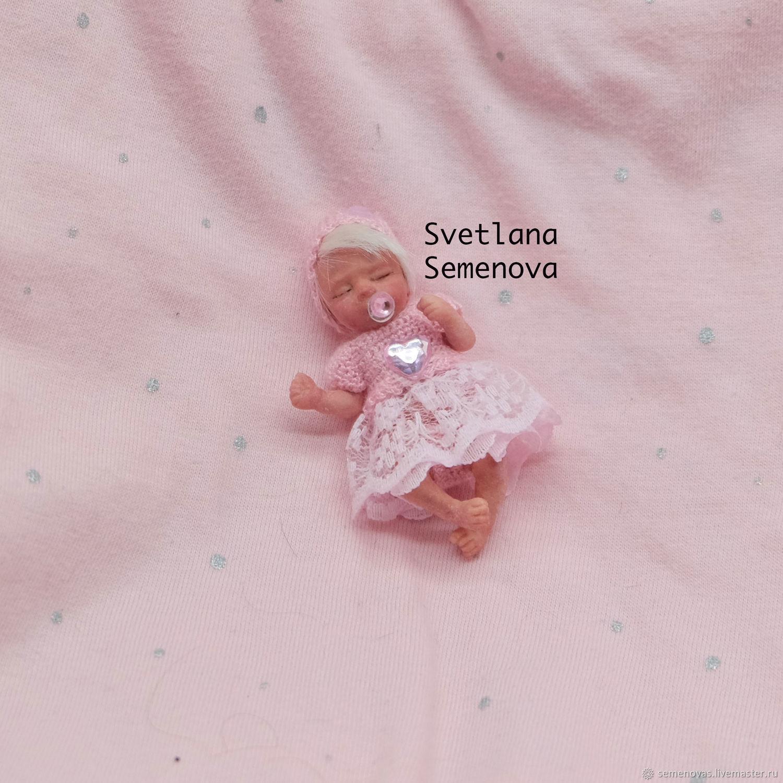 Полностью силиконовая малышка 6 см, Куклы и пупсы, Москва,  Фото №1