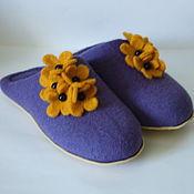 Обувь ручной работы. Ярмарка Мастеров - ручная работа Тапочки валяные - Фиолетовые. Handmade.