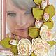 Фоторамки ручной работы. Ярмарка Мастеров - ручная работа. Купить Рамка для фотографий с розами. Handmade. Розовый, розы, зеленый, шебби