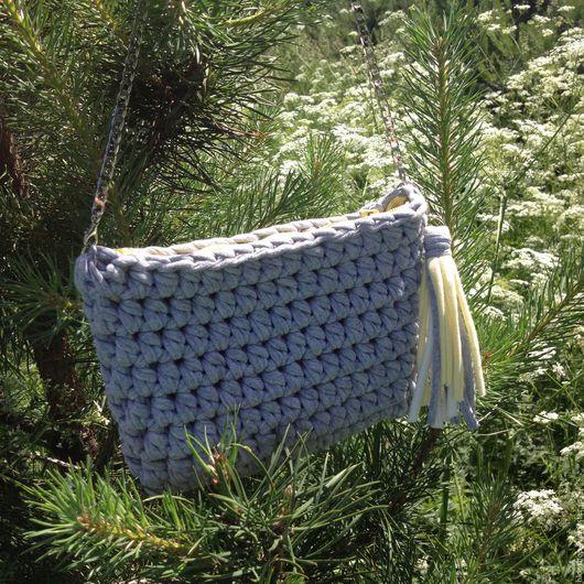 Женские сумки ручной работы. Ярмарка Мастеров - ручная работа. Купить Серая сумочка. Handmade. Серый, купить сумку, весна