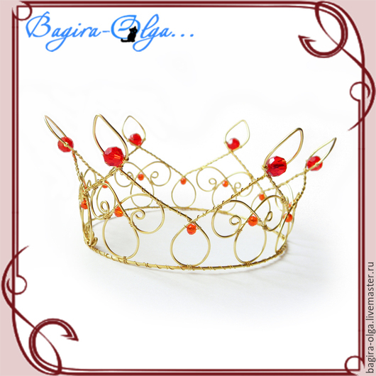 """Свадебные украшения ручной работы. Ярмарка Мастеров - ручная работа. Купить корона """"Царица"""". Handmade. Корона, wire wrap, невеста"""