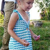 """Работы для детей, ручной работы. Ярмарка Мастеров - ручная работа Сарафан детский """"Жаркое лето"""". Handmade."""