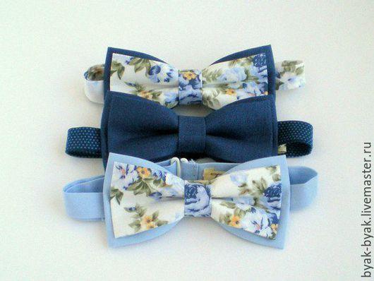 Галстуки, бабочки ручной работы. Ярмарка Мастеров - ручная работа. Купить галстук-бабочка. Handmade. Голубой, галстук-бабочка