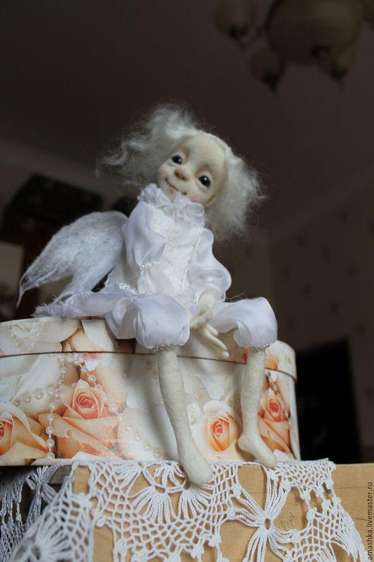 Сказочные персонажи ручной работы. Ярмарка Мастеров - ручная работа. Купить авторская кукла Белый Ангел. Handmade. Белый, подарок