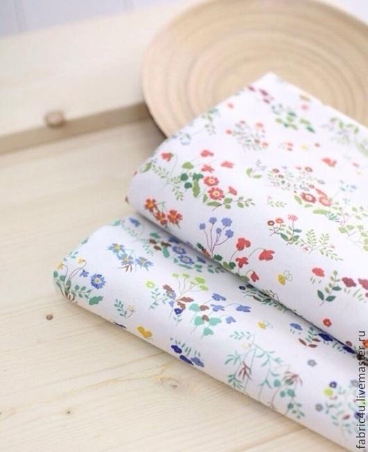 Шитье ручной работы. Ярмарка Мастеров - ручная работа. Купить Хлопковая ткань с мелкими цветами. 2 цвета. Handmade. Разноцветный