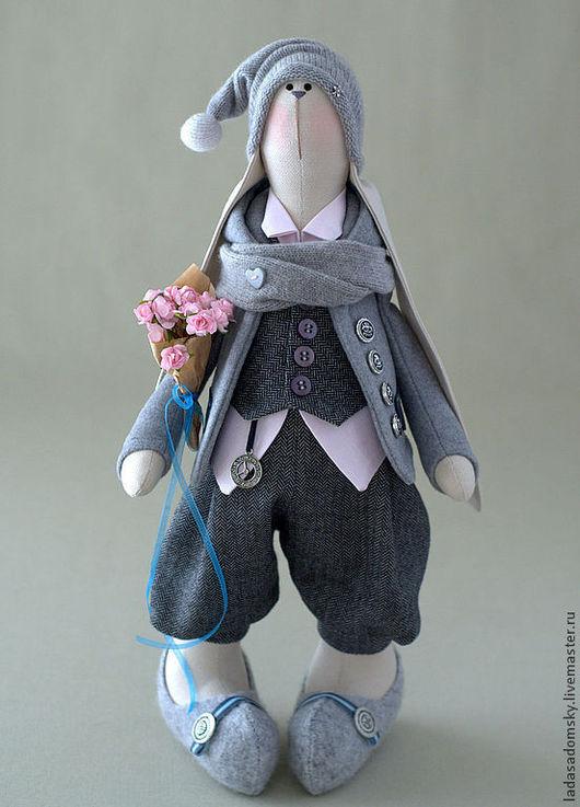 Игрушки животные, ручной работы. Ярмарка Мастеров - ручная работа. Купить Заяц Reni - 39 см. Handmade. Серый, зайчонок