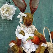 Куклы и игрушки ручной работы. Ярмарка Мастеров - ручная работа Зайка Бетти - коллекционная плюшевая игрушка. Handmade.