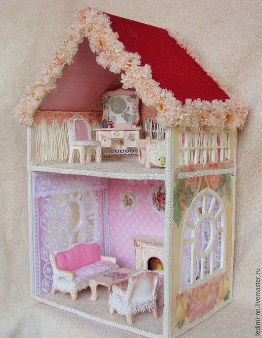 Кукольный домик в подарок, домик для кукол, кукольный дом, миниатюра для кукол, интерьерная игрушка, дорогой подарок, дом для кукол, кукольная мебель, румбокс, необычный подарок, кукольная миниатюра