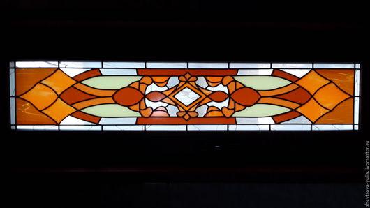 Элементы интерьера ручной работы. Ярмарка Мастеров - ручная работа. Купить Витраж пленочный узоры. Handmade. Оранжевый, пленка, рисунок