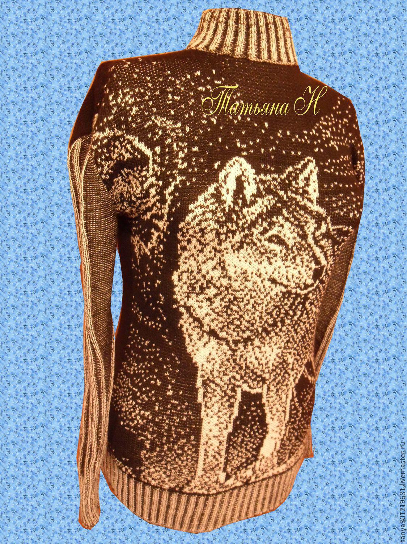 Черный вязаный свитер женский