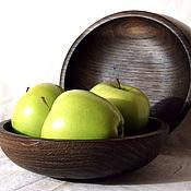 Посуда ручной работы. Ярмарка Мастеров - ручная работа Тарелка из дуба .. Handmade.
