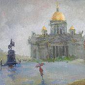 Петербург и Дождь Исаакиевский собор Открытка