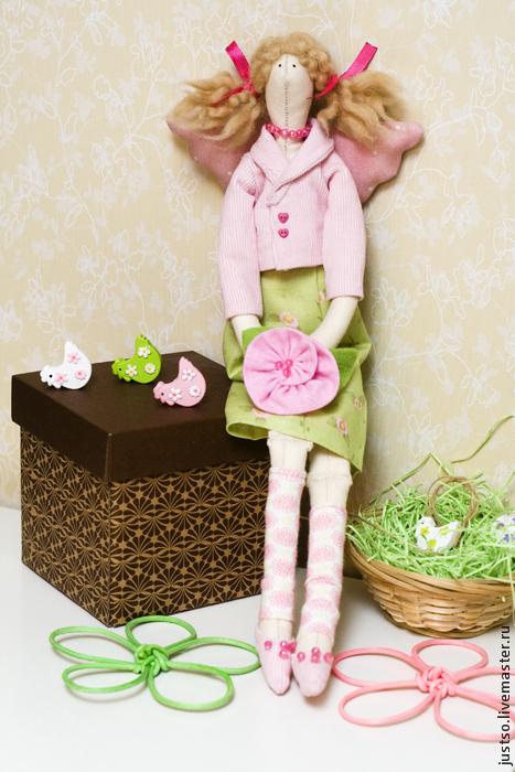 Куклы Тильды ручной работы. Ярмарка Мастеров - ручная работа. Купить Тильда Ангел Хранительница домашнего уюта. Handmade. Тильда