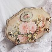 """Ключницы ручной работы. Ярмарка Мастеров - ручная работа Ключница-панно """"Нежность розы"""". Handmade."""