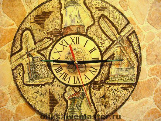 Clocks for Home handmade. Livemaster - handmade. Buy Wall clock Mills.Watch, craquelure