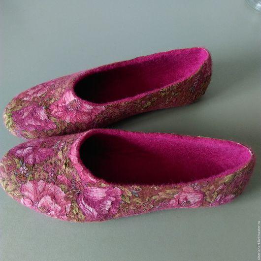 Тапочки валяные. Обувь ручной работы. Ярмарка мастеров . Купить валяные  тапочки . Тапочки валяные купить . Валяные тапочки .Тапочки валяные из войлока.Hand-maed