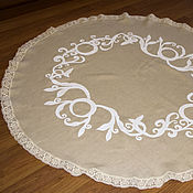 Для дома и интерьера handmade. Livemaster - original item Tablecloth with hand painted