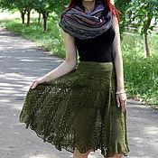 Skirts handmade. Livemaster - original item Summer openwork skirt crocheted from cotton. Handmade.