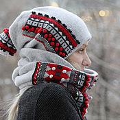 """Аксессуары ручной работы. Ярмарка Мастеров - ручная работа """"Не холодно!)))"""" Шапка+снуд. Handmade."""