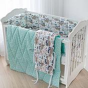 handmade. Livemaster - original item Bumpers for a baby cot quilt 100h120. Handmade.