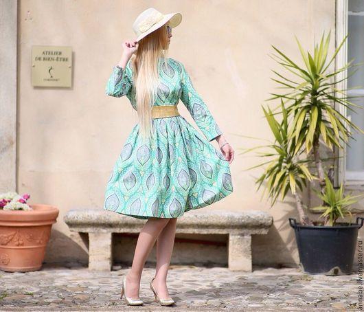 Платья ручной работы. Ярмарка Мастеров - ручная работа. Купить Платье Paisley Forever Хлопок 100%. Handmade. Зеленое платье