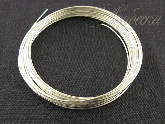 Проволока медная серебряного цвета 1мм  Rayher (Германия) 4м/упак