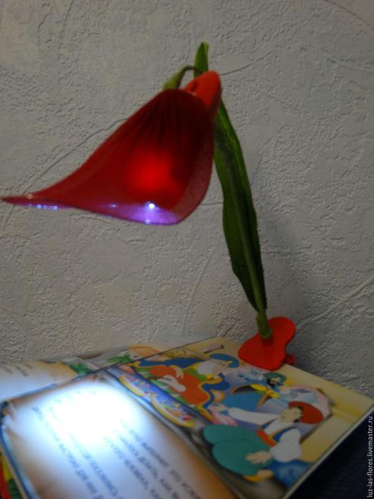 """Освещение ручной работы. Ярмарка Мастеров - ручная работа. Купить Фонарик для чтения """"Аленький цветочек"""". Handmade. Ночник, креативный подарок"""