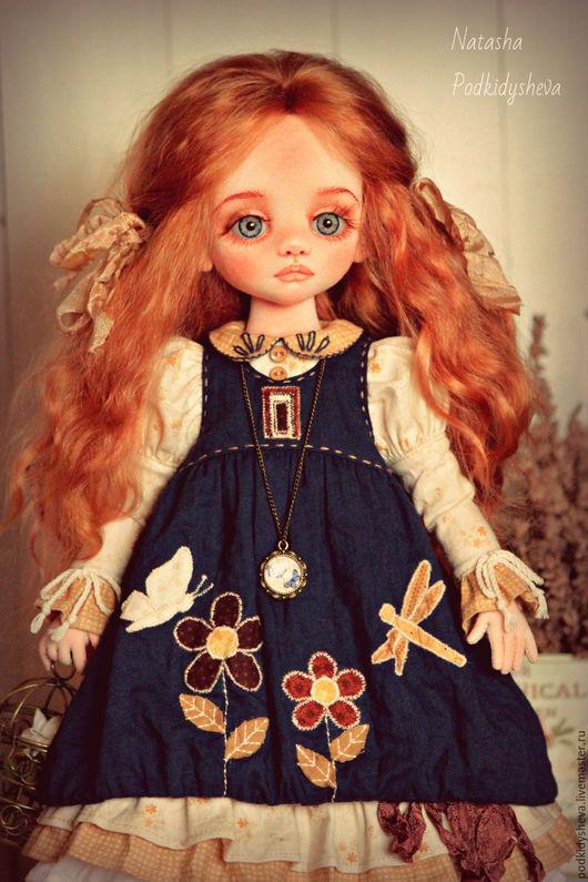 Коллекционные куклы ручной работы. Ярмарка Мастеров - ручная работа. Купить Лёля. Handmade. Тёмно-синий, текстильная кукла