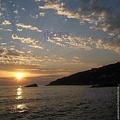 """Картины и панно ручной работы. Ярмарка Мастеров - ручная работа Фотокартина """"Закат на Средиземном море"""". Handmade."""