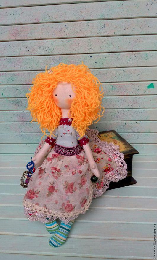 """Человечки ручной работы. Ярмарка Мастеров - ручная работа. Купить Текстильная кукла """"баронесса Джинджер"""". Handmade. Комбинированный, куклы и игрушки"""