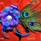 Украшения handmade. Livemaster - original item Accessory made of feathers of a peacock. Handmade.