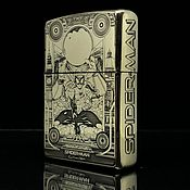 Подарки к праздникам handmade. Livemaster - original item Zippo lighter custom Spider-man. Handmade.