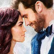 Картины и панно ручной работы. Ярмарка Мастеров - ручная работа Love Story/ Свадебный портрет по фото/ Лав стори. Handmade.