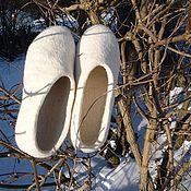 Обувь ручной работы. Ярмарка Мастеров - ручная работа Тапочки Невеста. Handmade.