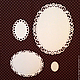 Открытки и скрапбукинг ручной работы. Ярмарка Мастеров - ручная работа. Купить Вырубка для скрапбукинга Цветочные Овалы 4 шт. Handmade.