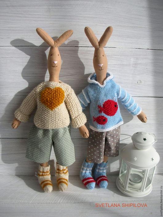 Игрушки животные, ручной работы. Ярмарка Мастеров - ручная работа. Купить Худой заяц  Maileg. Handmade. Бежевый, Заяц в подарок