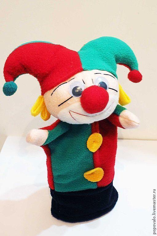 Кукольный театр ручной работы. Ярмарка Мастеров - ручная работа. Купить Скоморох ,петрушка ,игрушка для кукольного театра. Handmade. Скоморох
