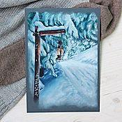 """Картины и панно ручной работы. Ярмарка Мастеров - ручная работа """"В зимнем лесу"""". Handmade."""