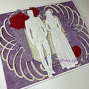Открытки ручной работы. Ярмарка Мастеров - ручная работа Конверт для денег свадебный. Handmade.