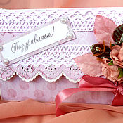 Открытки handmade. Livemaster - original item The card envelope for money gift