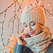 Аксессуары ручной работы. Ярмарка Мастеров - ручная работа «Золотые листья», шапка и снуд. Handmade.