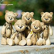 Куклы и игрушки ручной работы. Ярмарка Мастеров - ручная работа Мишутки кофейные. Handmade.