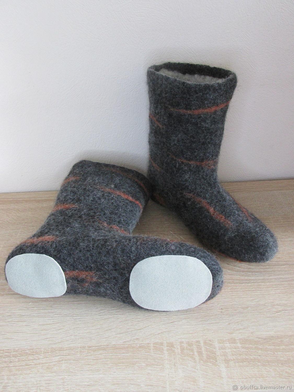 Socks wool felted felted of Merino with the prevention of skin, Socks, Kazan,  Фото №1
