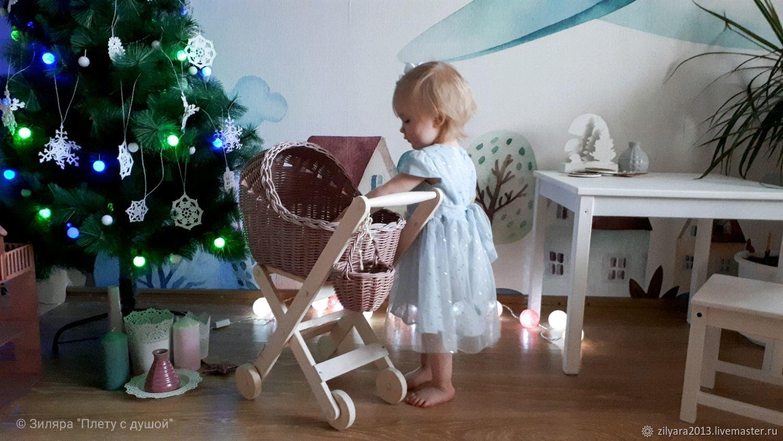 Плетеная игрушечная коляска, Игрушки-каталки, Екатеринбург,  Фото №1