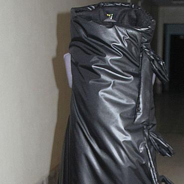 Одежда ручной работы. Ярмарка Мастеров - ручная работа Пальто: Черный жилет-пуховик. Handmade.