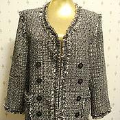 SALE! Жакет стиль Шанель, Винтаж, США, 80-е, раз.-48 (рос.)
