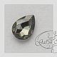Для украшений ручной работы. Капли - стразы серый черный алмаз ( ассортимент размеров ). GalA beads. Интернет-магазин Ярмарка Мастеров.