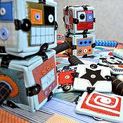 Куклы и игрушки ручной работы. Ярмарка Мастеров - ручная работа Роботокомплект, кубики покрывало торба. Handmade.